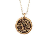 Small Tree of Life Traveller's Coin Necklace in Bronze | House of Alaia | Made in Bali