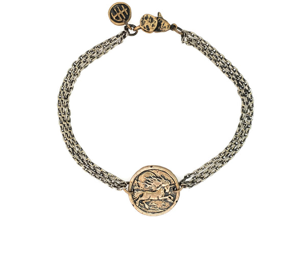Miracles and Magic Unicorn Protection Bracelet in Bronze
