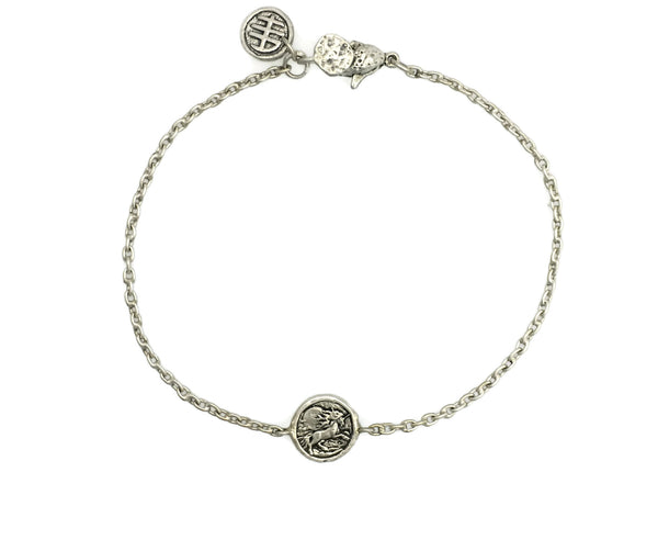 Miracles and Magic Unicorn Mini Protection Bracelet in Sterling Silver