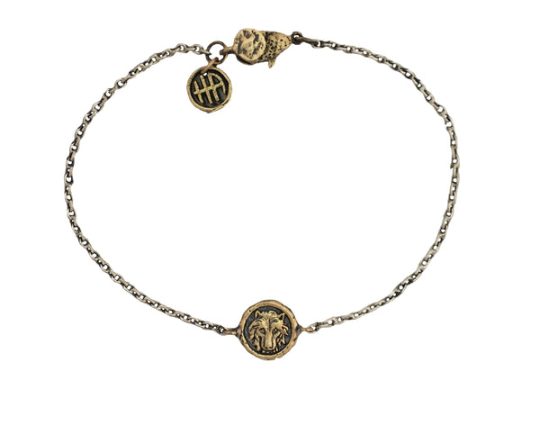 Personal Power Wolf Mini Protection Bracelet in Bronze