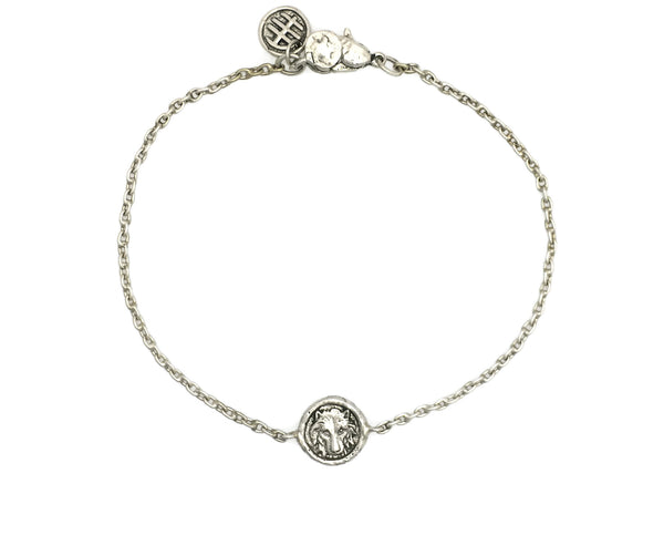 Personal Power Wolf Mini Protection Bracelet in Silver