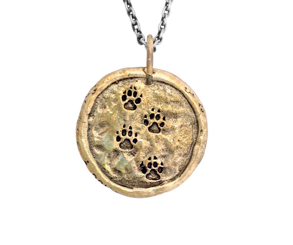 Wolf Traveller's Coin in Bronze | House of Alaia | Made in Bali
