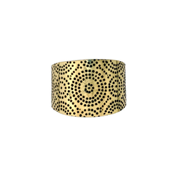 Africa Saddle Ring Bronze