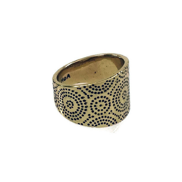 Bronze Ring - Africa Saddle Ring