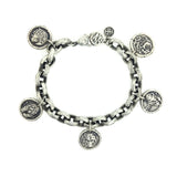 Power Animal Sacred Links Silver Bracelet