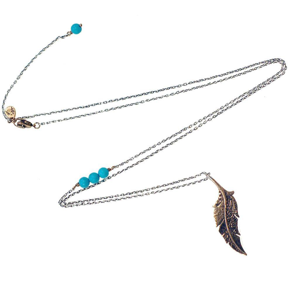 Necklaces - Fabrics Of Life Feather Necklace