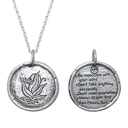 Necklaces - The Four Agreements Traveller's Coin Necklace