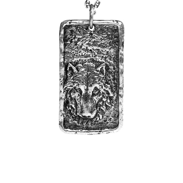 Wolf Dogtag Necklace
