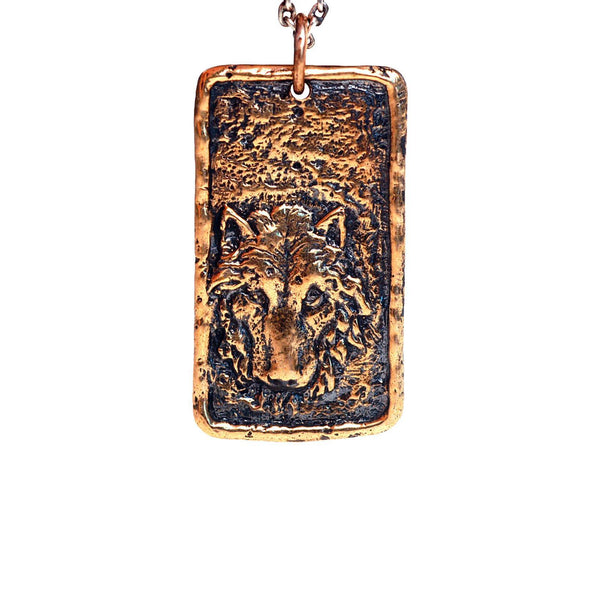 Necklaces - Wolf Dogtag Necklace