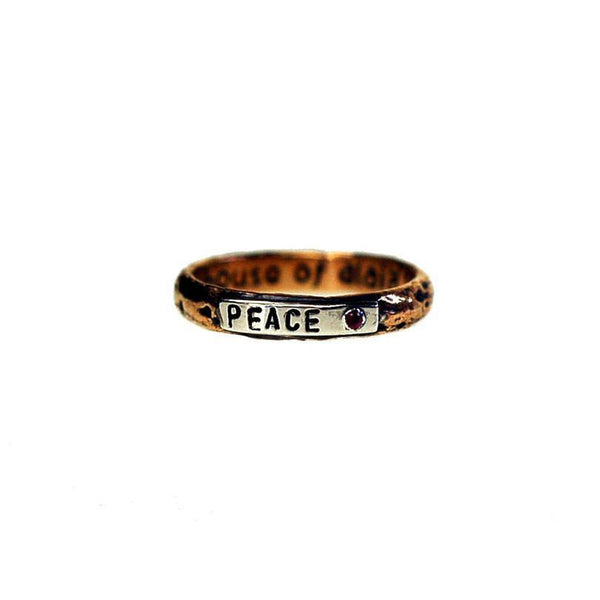 Peace Stack Ring