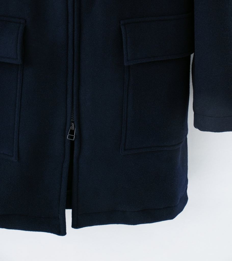 C'H'C'M' 'Hooded Wool Parka' (Dark Navy Wool)