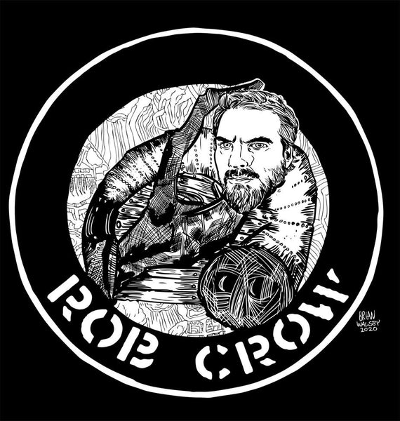 Rob Crow T-Shirt (by Brian Walsby)