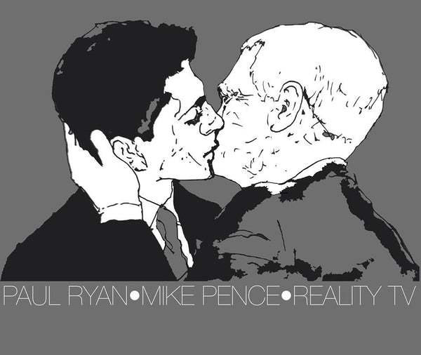 Paul Ryan & Mike Pence T-Shirt - Reality TV (Art Project) - Joyful Noise Recordings - 2