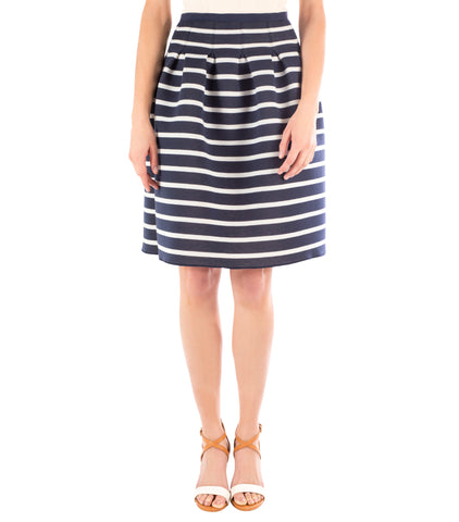 Hackney Stripe Skirt, Navy