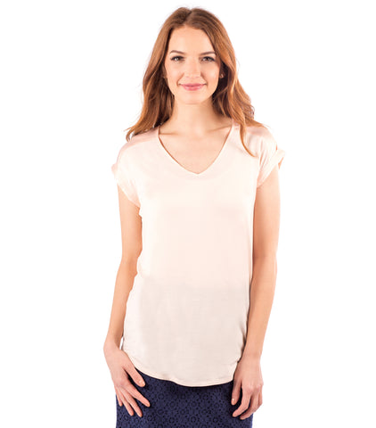 Buckingham Top in Shell Pink