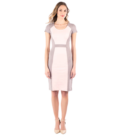 Modern Shapes Dress, Opal Gray