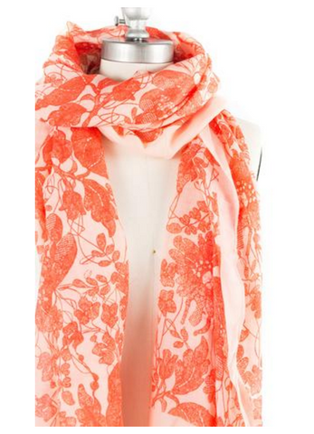 Sunrise Poppy Scarf