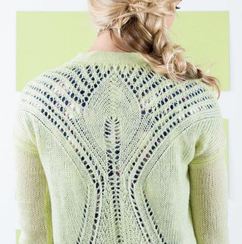 Broome St Cardi in Lime Cream