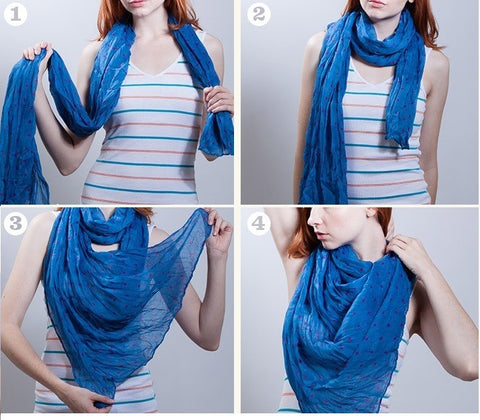 waterfall scarf tutorial