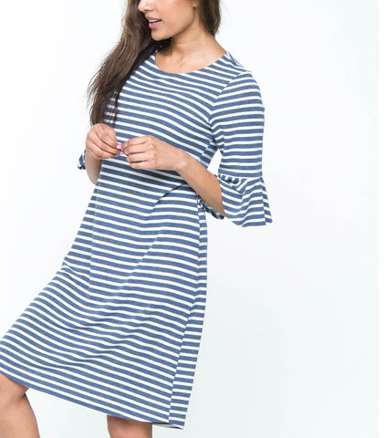 Flare Sleeve Striped 39
