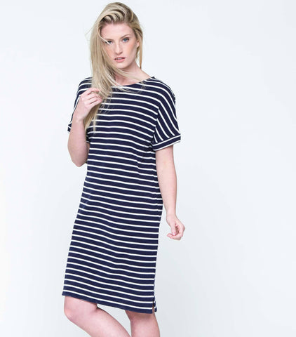 Anchors Away Dress - Navy & White
