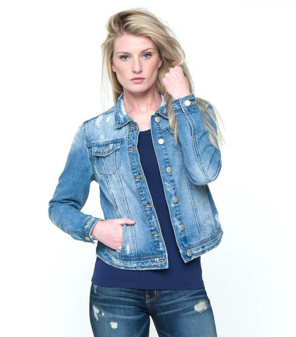 Daytime Distressed Jacket - Distressed Blue Denim