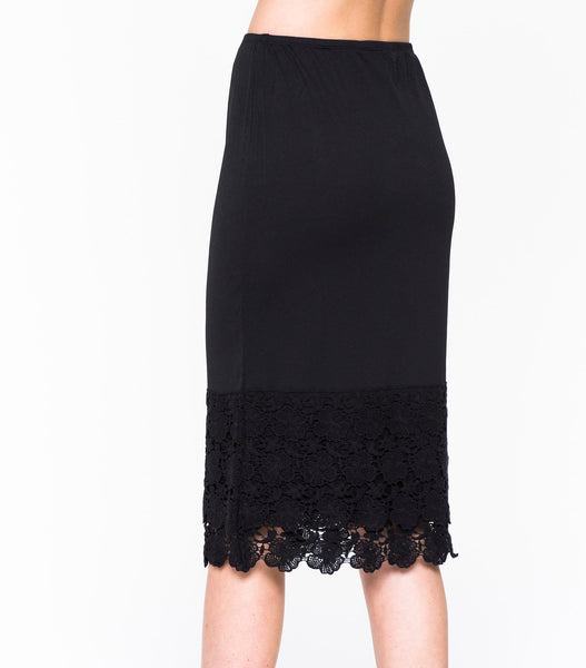 Spring Lace Pencil Skirt Extender Slip