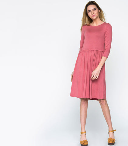 Classroom Dress - Dark Peach