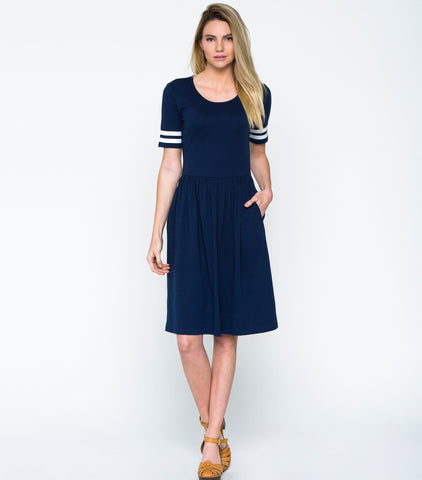 Field Day Dress - Navy