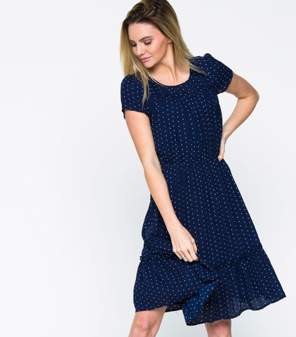 Retro Ruffle Dress