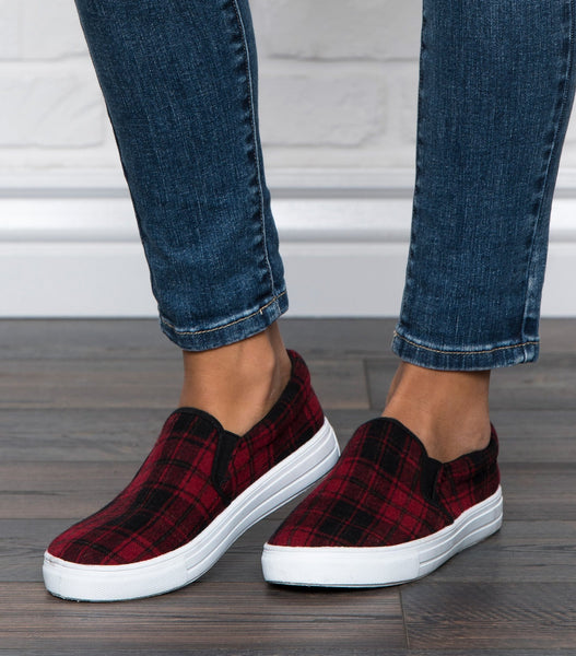 Reba Plaid Loafers