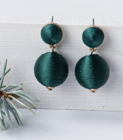 Emerald Globe Earrings