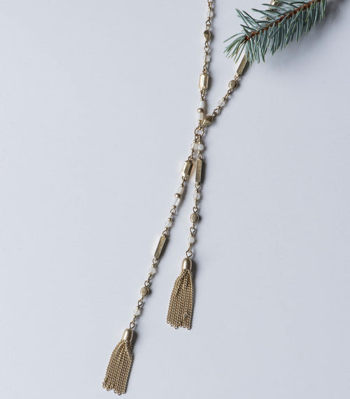 Double Tassel Bead Necklace
