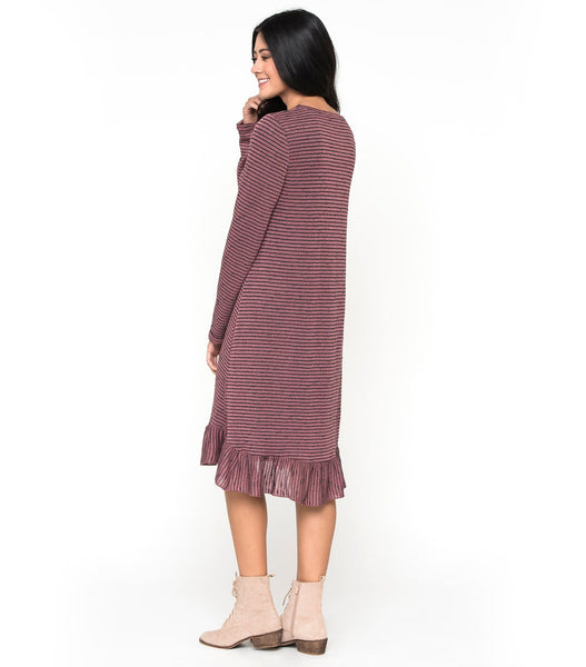 Sweater Ruffle Dress