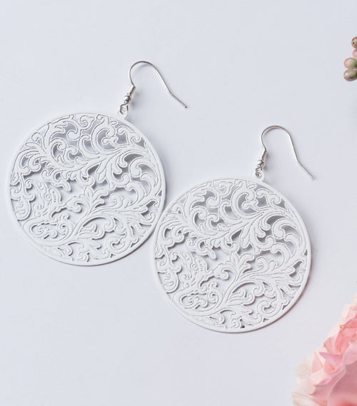 Scroll Cutout Earrings