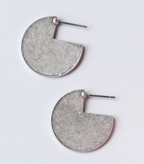 Mini Pacman Disc Earrings