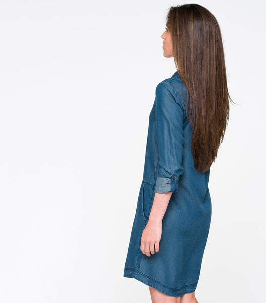 Button Front Shift Dress