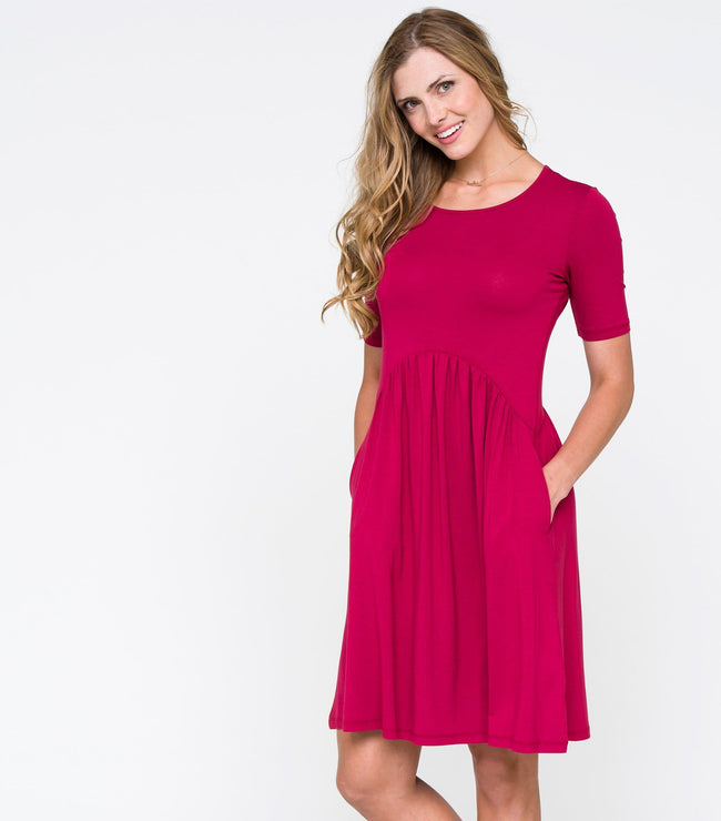 Curved Seam Dress