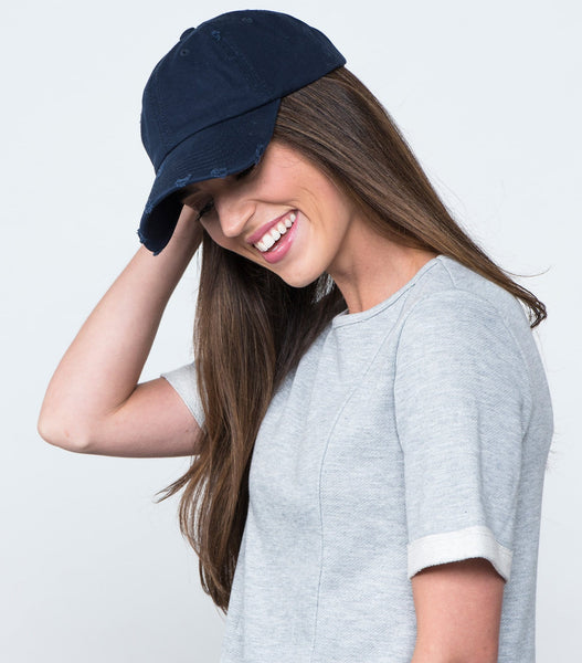 Distressed Twill Ball Cap