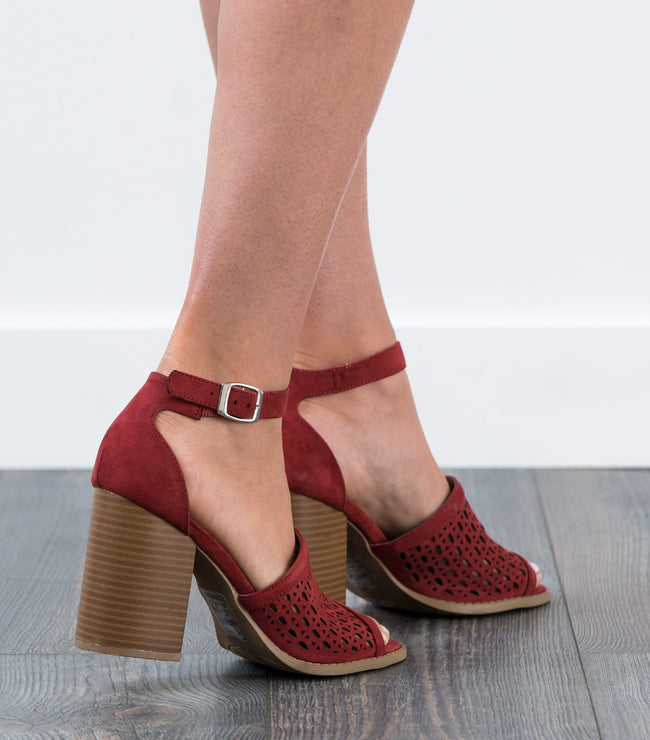 Brammer Laser Cut Stacked Heel