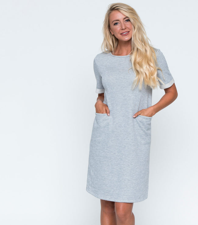 French Terry Pocket Dress