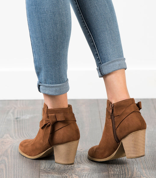 Arden Side Tie Ankle Boot