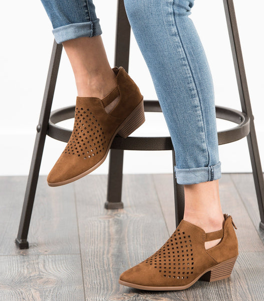 Chopt Laser Cut Ankle Boot