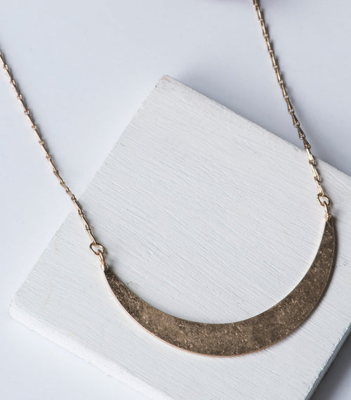 Crescent Plate Necklace