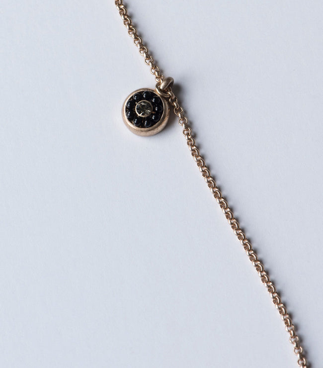 Globe & Gold Disc Necklace