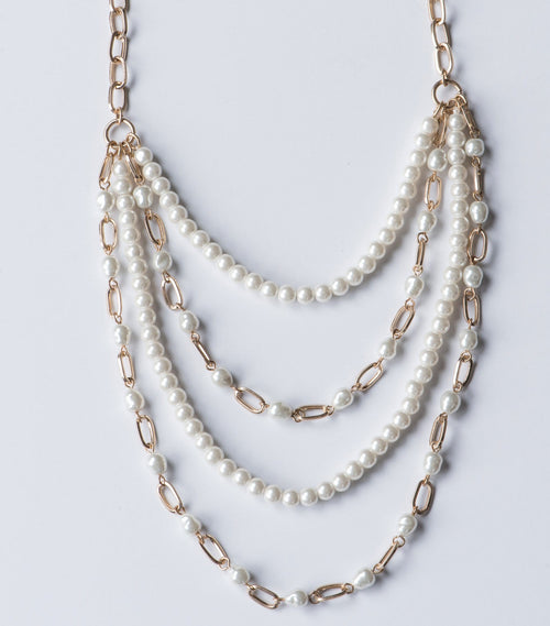 Library Pearl Multi-strand Necklace