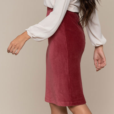 Zipper Back Pencil Skirt
