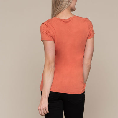 Signature Short Sleeve V-Neck Top