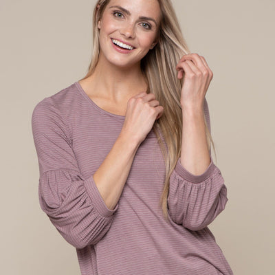 Gathered Sleeve Top