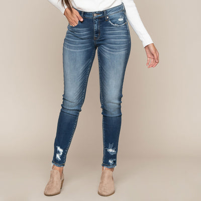Distressed Pocket Jean